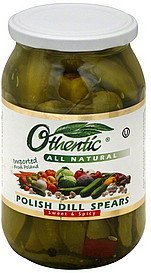 dill spears polish, sweet & spicy Othentic Nutrition info