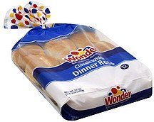 dinner rolls classic white Wonder Nutrition info