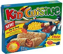 dip and dunk cheese pizza strips Kid Cuisine Nutrition info