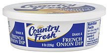 dip french onion Country Fresh Nutrition info
