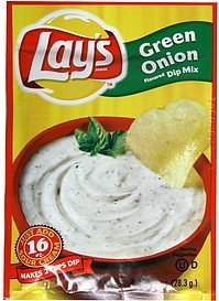 dip mix green onion flavored Lays Nutrition info