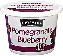 dip pomegranate blueberry American Heritage Nutrition info