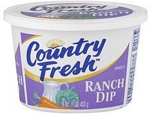 dip ranch Country Fresh Nutrition info