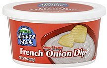 dip sour cream, french onion Meadow Brook Nutrition info
