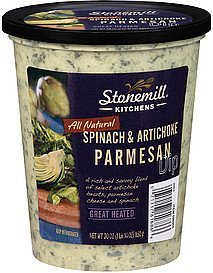 dip spinach & artichoke parmesan Stonemill Kitchens Nutrition info