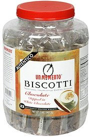 dipping biscotti chocolate dipped in white chocolate Un Momento Nutrition info