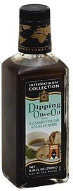 dipping olive oil with balsamic vinegar & italian herbs International Collection Nutrition info