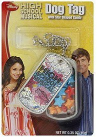 dog tag high school musical, with star shaped candy Frankford Candy & Chocolate Company Nutrition info