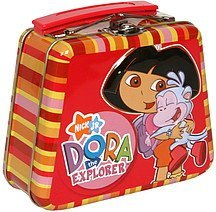 dora the explorer filled with microwavable popcorn Frankford Candy & Chocolate Company Nutrition info