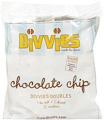 doubles chocolate chip Divvies Nutrition info