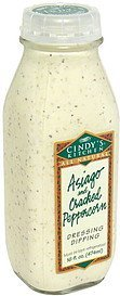 dressing dipping asiago and cracked peppercorn Cindy's Kitchen Nutrition info