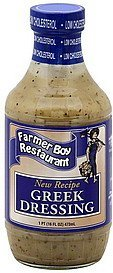 dressing greek Farmer Boy Restaurant Nutrition info