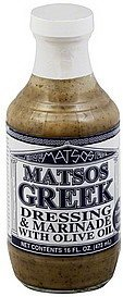dressing & marinade greek, with olive oil Matsos Nutrition info