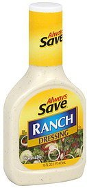 dressing ranch Always Save Nutrition info