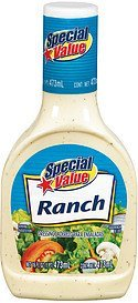 dressing ranch Special Value Nutrition info