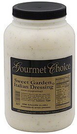dressing sweet garden italian Gourmet Choice Nutrition info