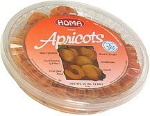 dried apricots Homa Nutrition info
