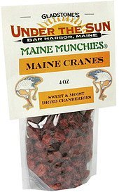 dried cranberries sweet & moist Maine Munchies Nutrition info