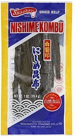 dried kelp Shirakiku Nutrition info