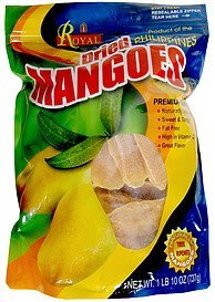 dried mangos Royal Nutrition info