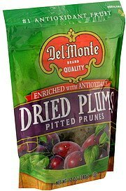 dried plums Del Monte Nutrition info