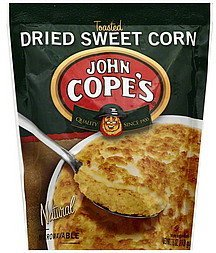 dried sweet corn toasted John Copes Nutrition info