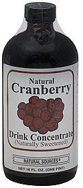 drink concentrate natural cranberry, naturally sweetened Natural Sources Nutrition info