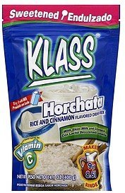 drink mix horchata rice and cinnamon flavored Klass Nutrition info