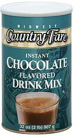drink mix instant, chocolate flavored Midwest Country Fare Nutrition info