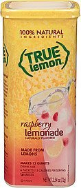 drink mix raspberry lemonade True Lemon Nutrition info