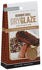 dry glaze vermont grill, maple & spicy sage Urban Accents Nutrition info