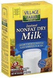 dry milk instant nonfat Village Farm Nutrition info