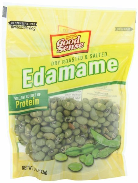 dry roasted and salted edamame Good Sense Nutrition info