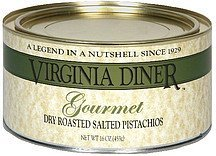 dry roasted salted pistachios gourmet Virginia Diner Nutrition info
