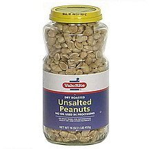 dry roasted unsalted peanuts Valu-Rite Nutrition info