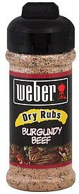 dry rubs burgundy beef Weber Nutrition info