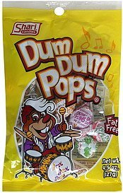 dum dum pops Shari Candies Nutrition info