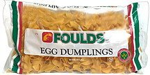 dumplings egg Foulds Nutrition info