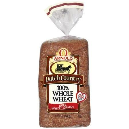 dutch country 100% whole wheat bread Arnold Nutrition info
