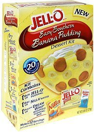 easy southern banana pudding Jell-o Nutrition info