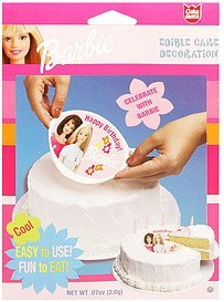 edible cake decoration barbie Cake mate Nutrition info