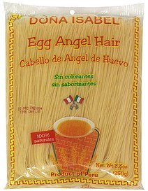 egg angel hair Dona Isabel Nutrition info