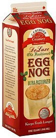 egg nog de luxe, old fashioned C.F. Burger Creamery Nutrition info