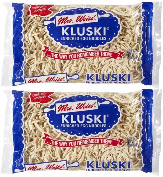 egg noodles enriched, kluski Mrs. Weiss' Nutrition info
