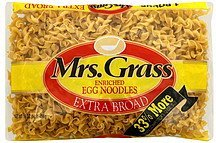 egg noodles extra broad, enriched Mrs. Grass Nutrition info