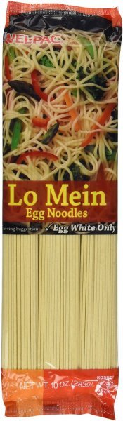 egg noodles lo mein Wel-pac Nutrition info