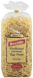 egg noodles traditional german, kluski Bechtle Nutrition info