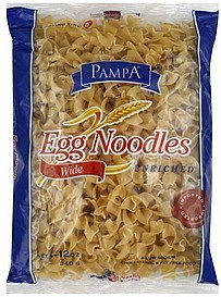 egg noodles wide Pampa Nutrition info