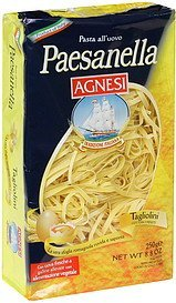 egg pasta with fresh eggs, tagliolini Paesanella Nutrition info