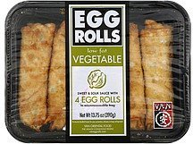 egg rolls low fat, vegetable Van Nutrition info
